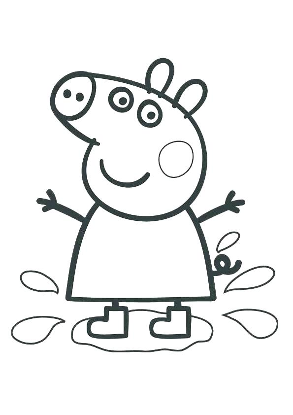 595x842 Coloring Page Pig Pig With Bow Tie Coloring Page Coloring Page