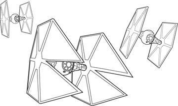 Tie Fighter Coloring Page