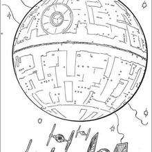 220x220 Death Star And The Fighters Coloring Pages