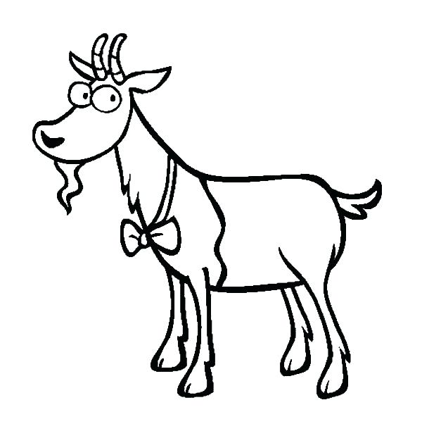 600x612 Good Tie Coloring Page For Goat Wearing Bow Tie Coloring Pages
