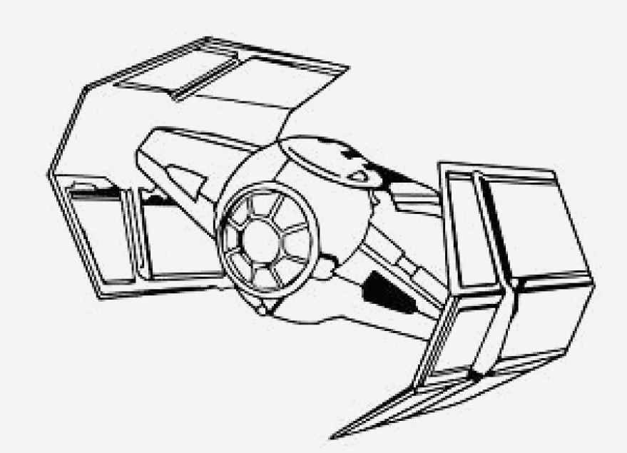 879x635 Portraits Tie Fighter Coloring Page Memorable