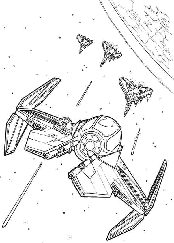 603x843 Star Wars Tie Fighter Coloring Page To Print Free Coloring Sheets