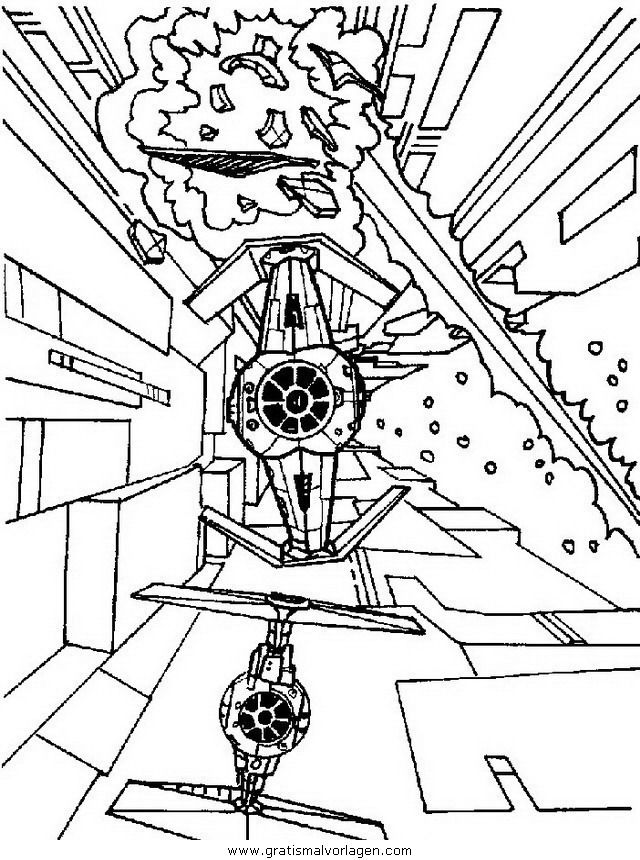 Tie Fighter Coloring Page at GetDrawings.com | Free for ...