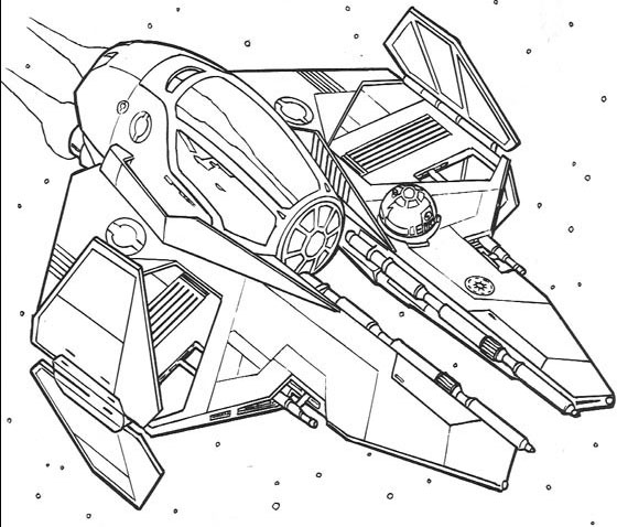 560x478 Best Photos Of Tie Fighter Coloring Page