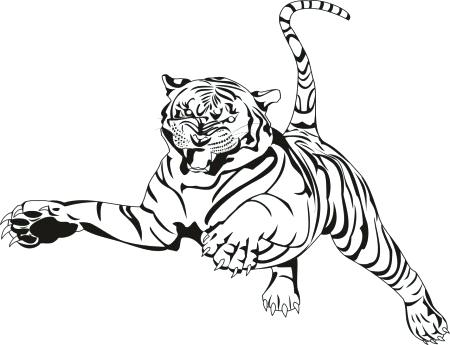 450x345 Tiger Color Pages Tiger Color Pages Luxury Tiger Coloring Page