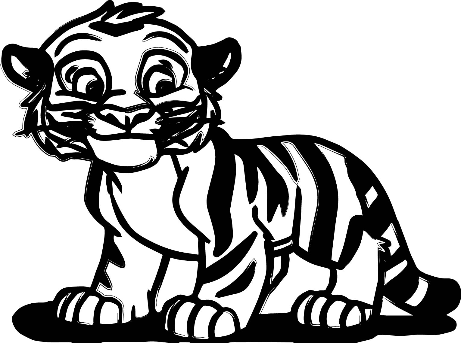 1531x1142 baby tiger coloring pages inside glum
