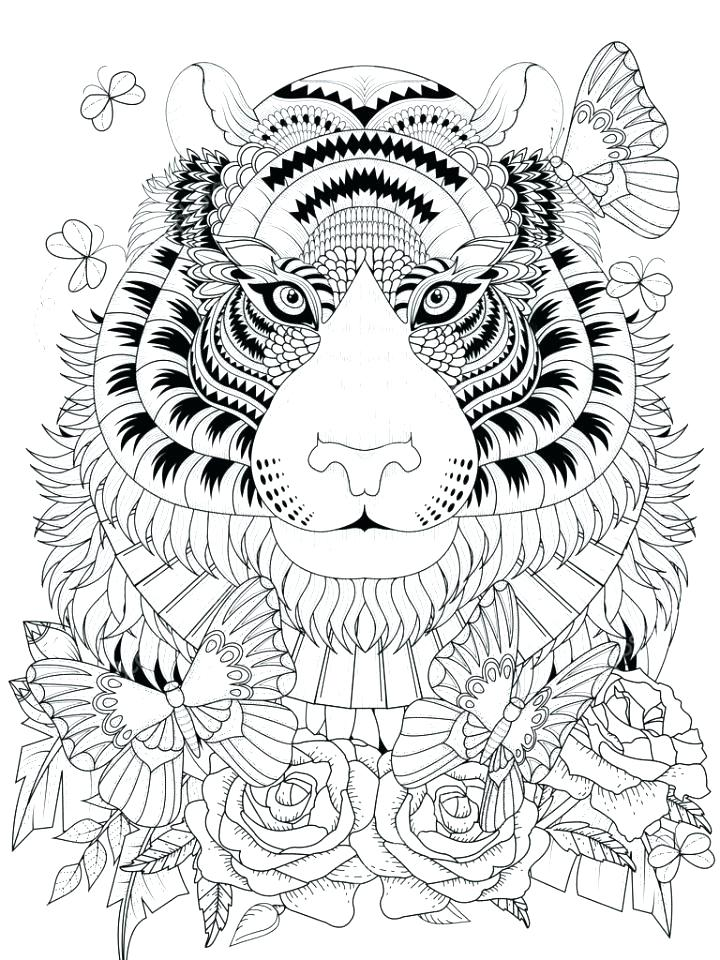 Tiger Coloring Pages Realistic At Getdrawings Com Free For