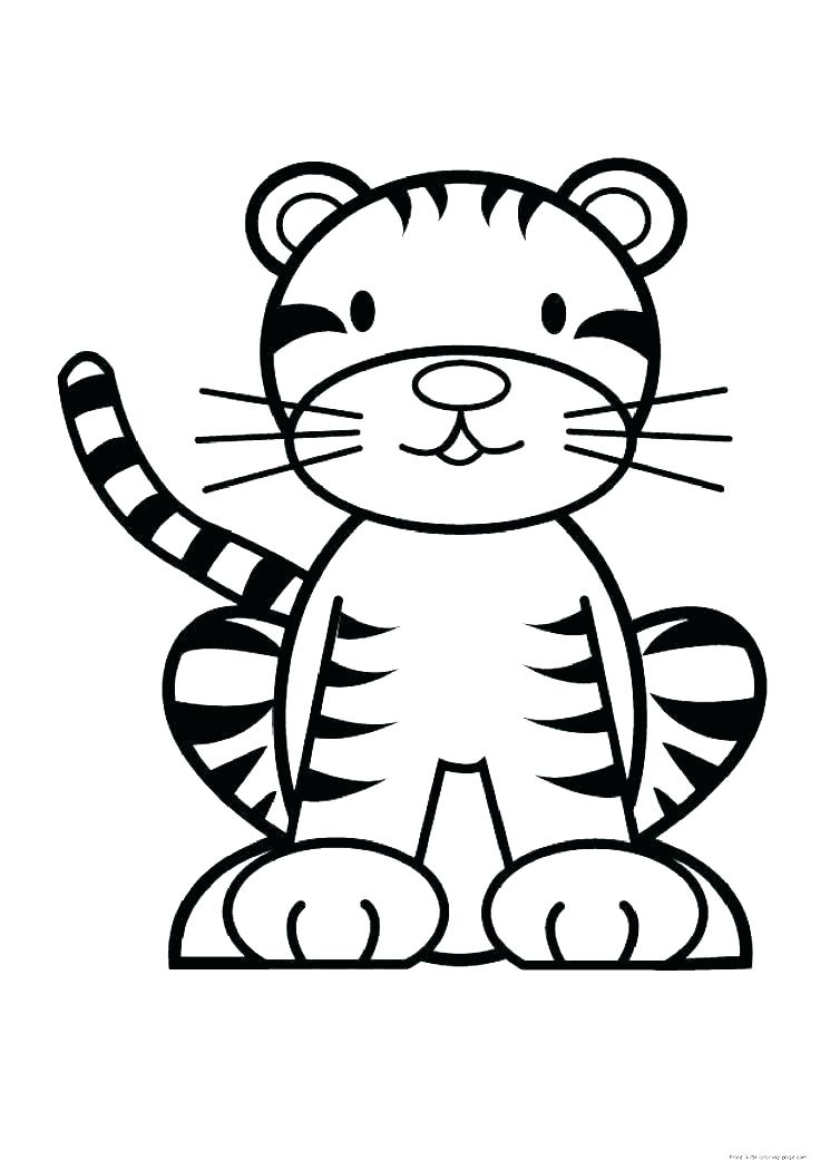 736x1041 Cute Tiger Coloring Pages Printable Tiger Coloring Pages Cute Baby
