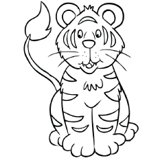 230x230 Top Free Printable Tiger Coloring Pages Online