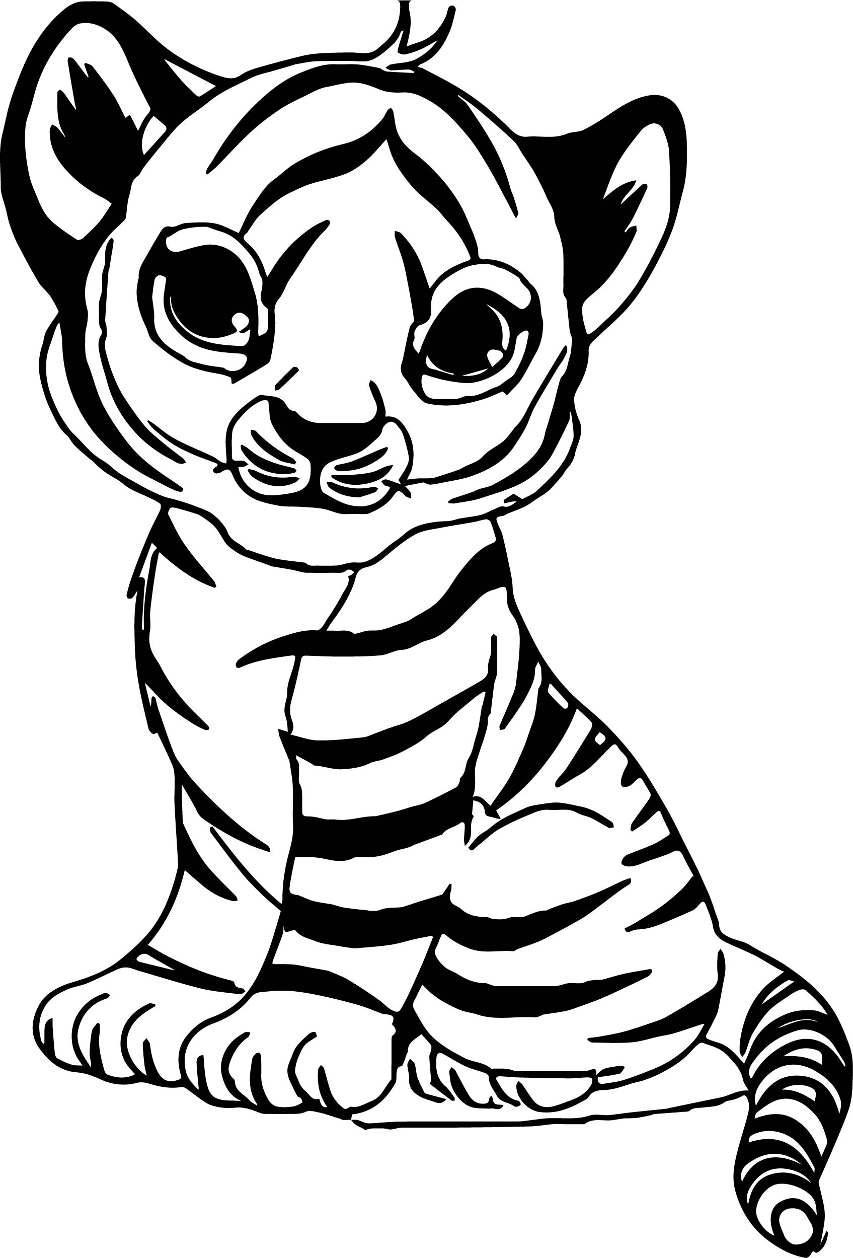 1695x2499 Baby Tiger Coloring Pages Bratz Within Of Cute Tigers Fair