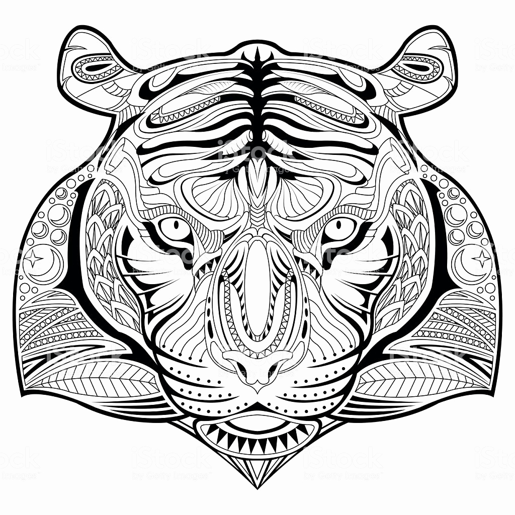1024x1024 Tiger Face Coloring Page Funny Coloring Circus Tiger Coloring