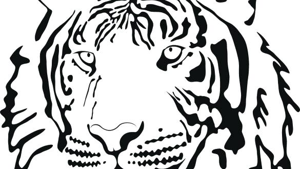 585x329 Tiger Face Coloring Page Coloring Book Tiger Face Page Books
