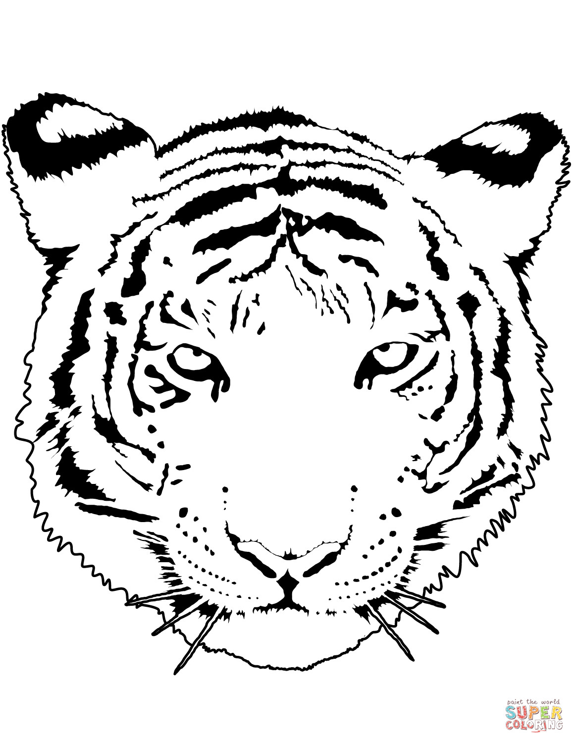 1159x1500 Tiger Face Coloring Pages Mosm