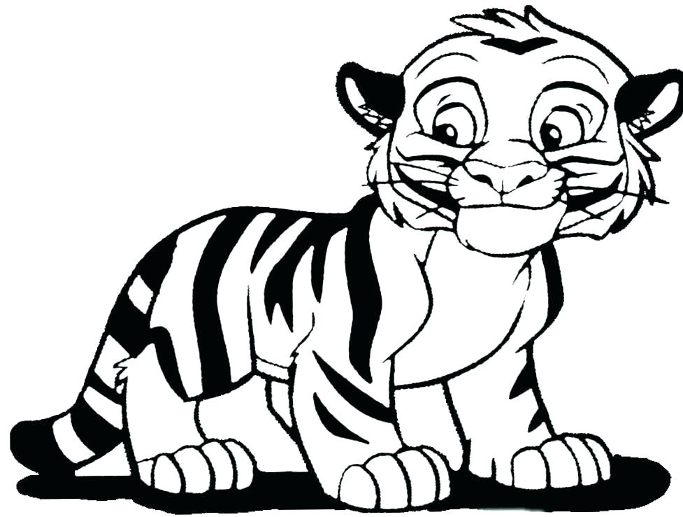 977x739 Tiger Face Coloring Sheet Printable Coloring Cute Tiger Coloring