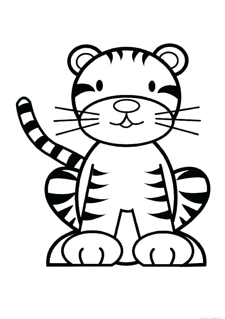 736x1041 Tiger Face Coloring Page