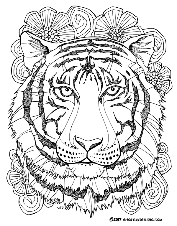 600x767 Flora And Fauna Coloring Sheets Short Leg Studio