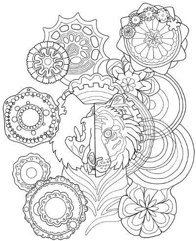 400x492 Tiger Mandala Coloring Page For Adults Mandala Coloring, Mandala