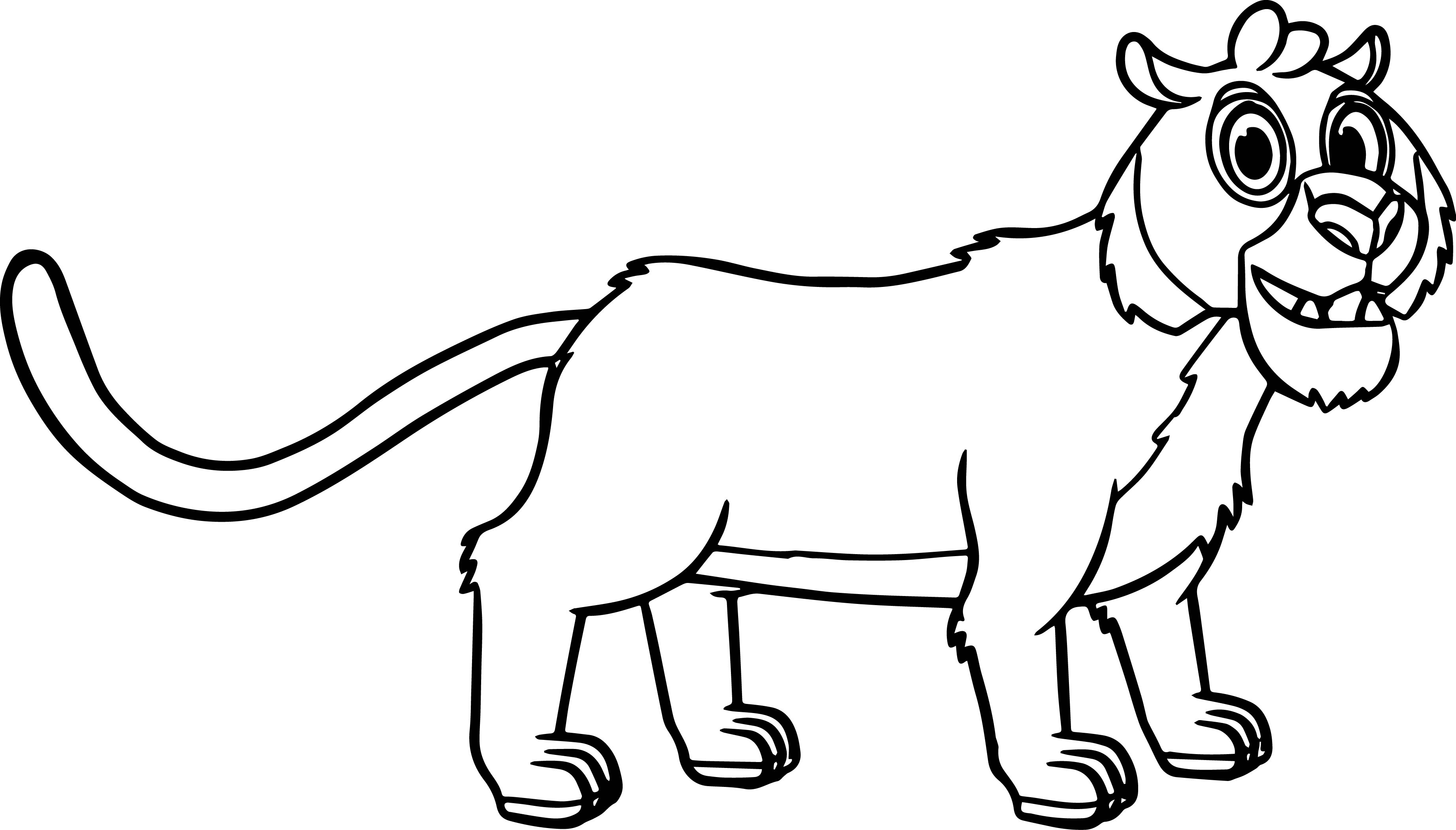 3683x2100 Morphle Cartoon My Cute Pet Tiger Coloring Page Wecoloringpage