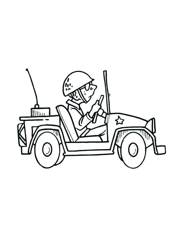 640x827 Tank Coloring Page Jeep Coloring Pages Army Men Coloring Pages