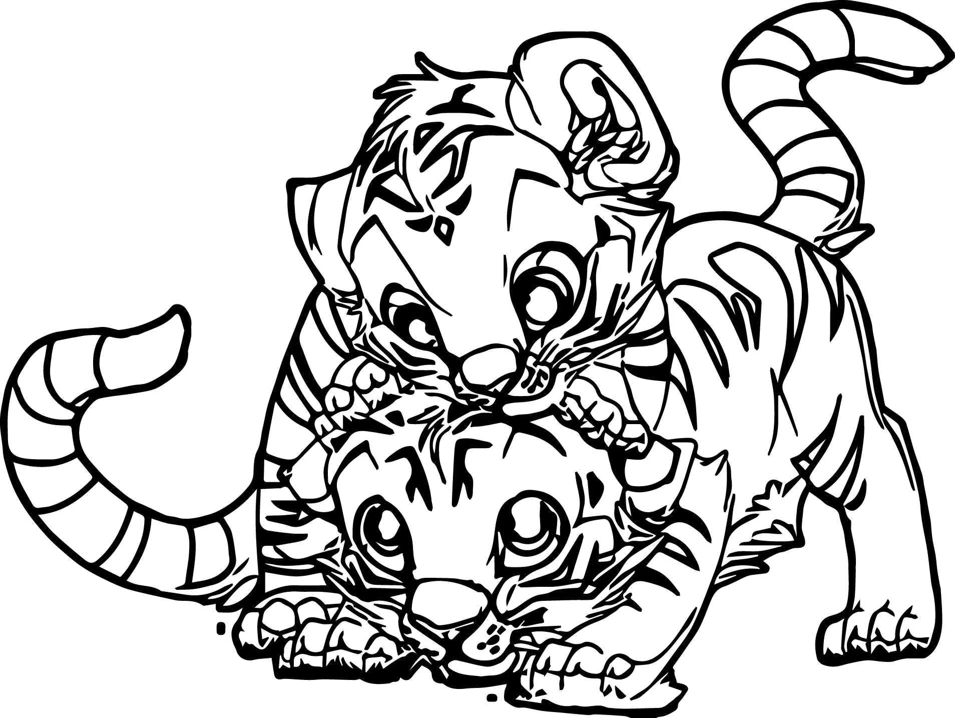 1908x1434 Coloring Pages Of Cute Baby Tigers Coloring Pages