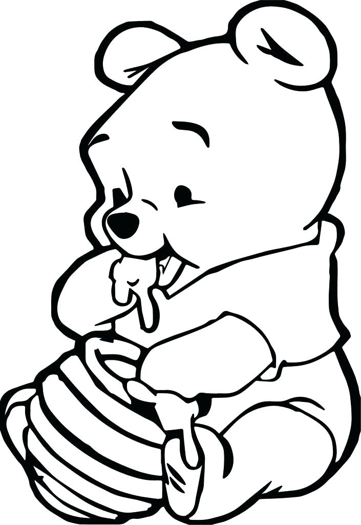 705x1024 Baby Winnie The Pooh Coloring Pages Baby The Pooh Coloring Pages