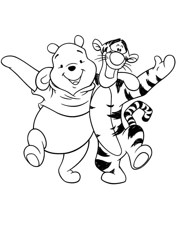 600x776 Tigger Pooh Coloring Pages Best Friends Winnie The Pooh