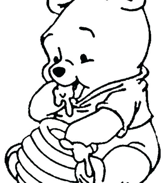 550x600 Baby Pooh Coloring Pages Owl The Pooh Coloring Pages Bear Rabbit