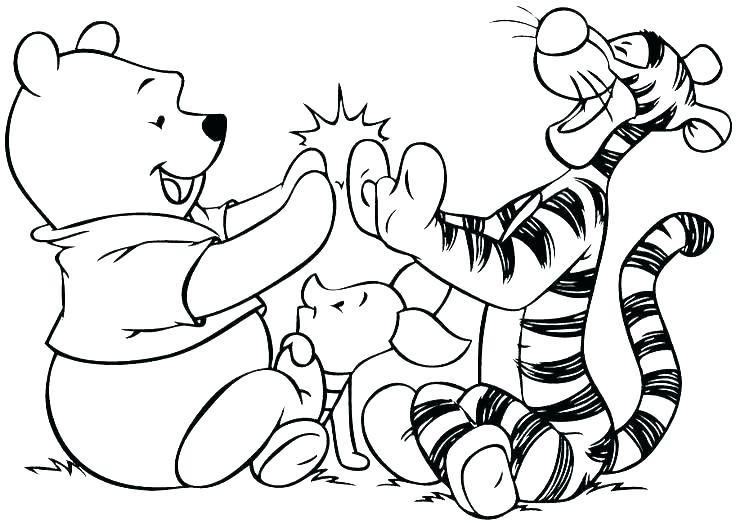 736x523 Baby Tigger Coloring Pages Baby Pooh Coloring Pages Cute