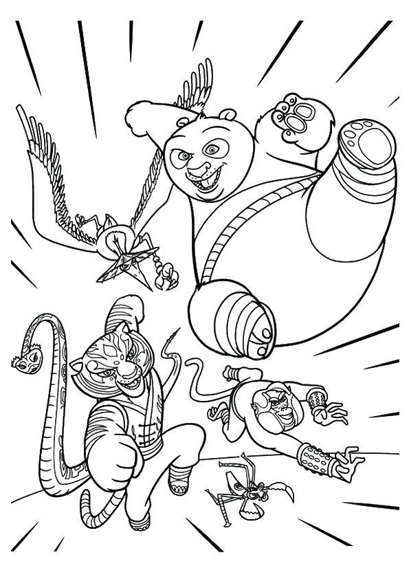 595x842 Panda Master Tigress Coloring Page Kung Fu Panda Coloring Page