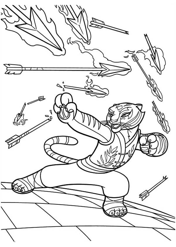 600x840 Furious Five Coloring Pages