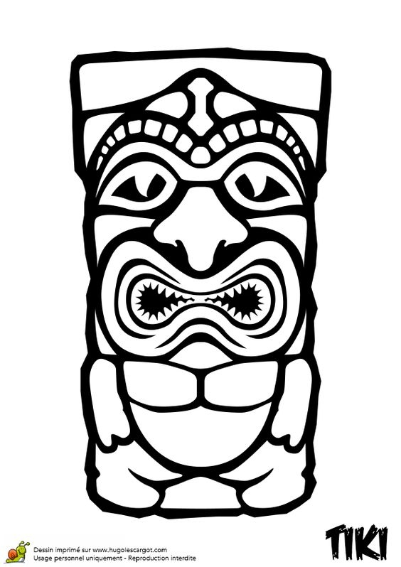 Tiki Coloring Pages