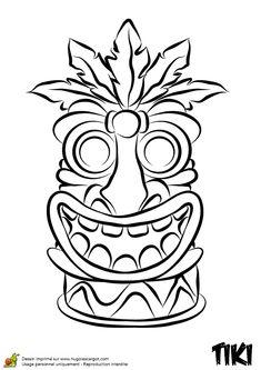 235x333 Hawaiian Tiki Masks Coloring Pages Tiki Masks