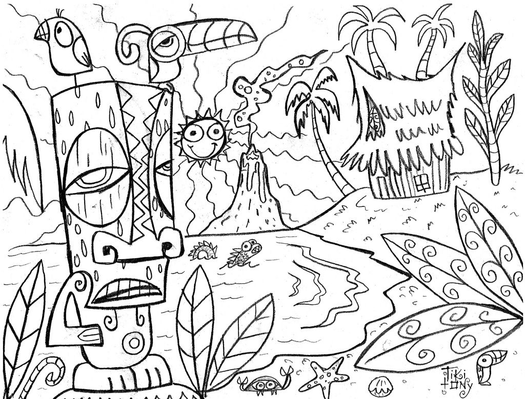 1024x779 Impressive Hawaiian Colouring Pages Adult Colo