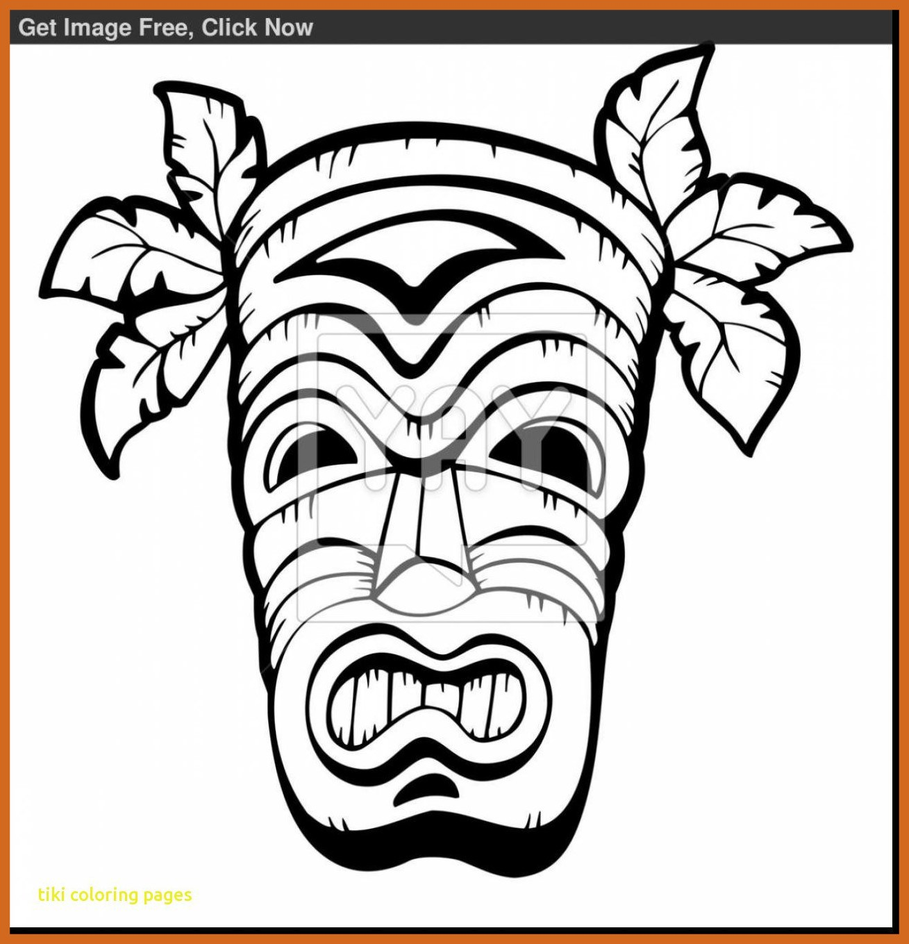 1309x1359 Inspiring Tiki Coloring Pages With Hawaiian Regarding Remodel Pics