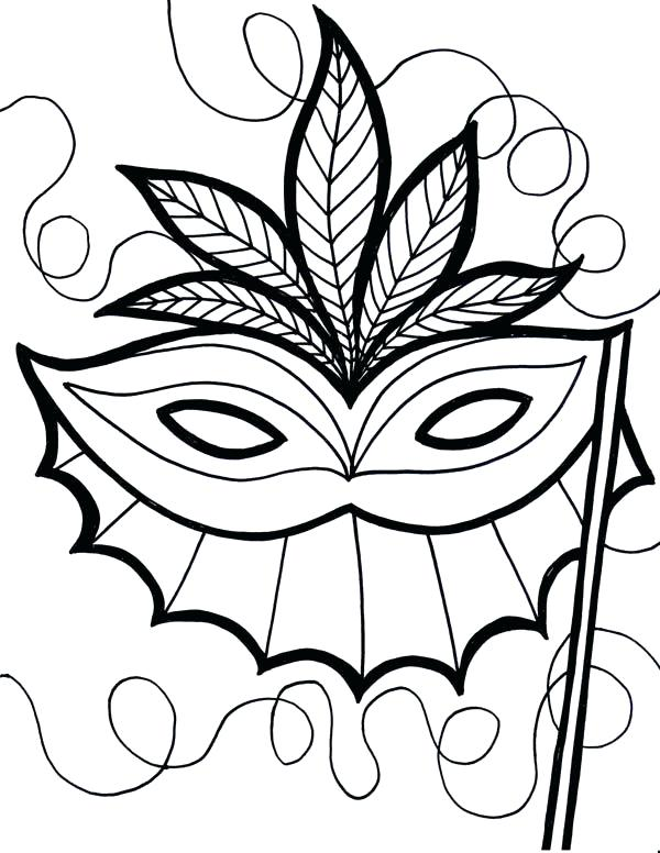 600x776 Mask Coloring Pages Coloring Page Tiki Mask Coloring Pages