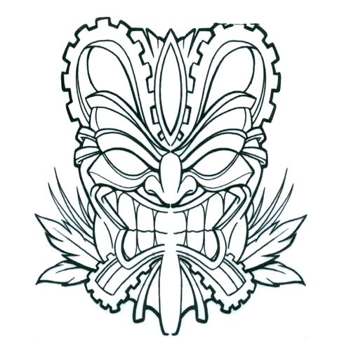 500x500 Pix For Mask Coloring Pages Tiki Faces Coloring Pages