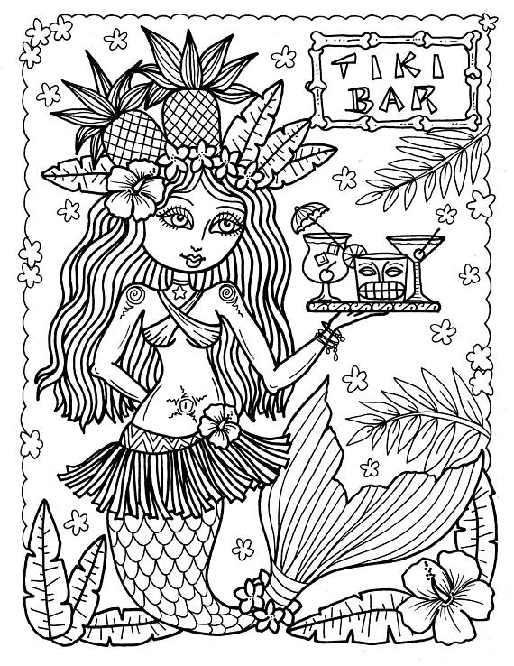 570x738 Tiki Bar Coloring Pages Coloring Pages