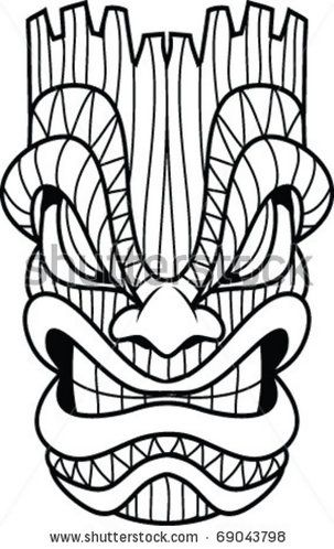 303x498 Tiki Coloring Pages