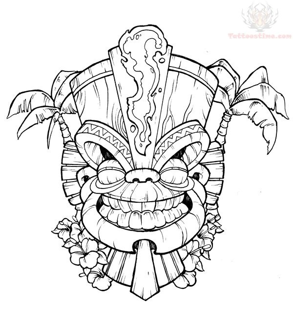 600x672 Tiki Coloring Pages Noticeable