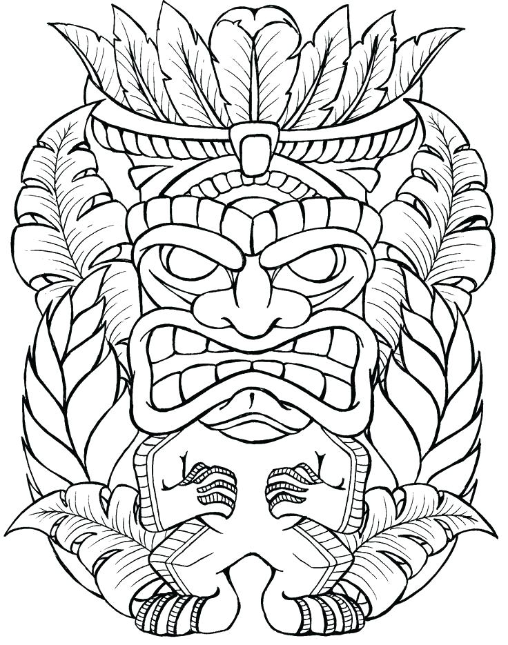 736x935 Tiki Coloring Pages Coloring Pages For Girls Masks Free Printable