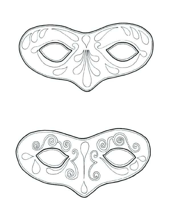 600x753 Tiki Coloring Pages Mask Coloring Page Couple Of Mask To Wear