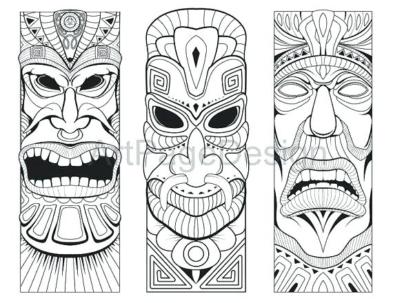 570x440 Tiki Coloring Pages Masks Coloring Pages Mask To Print Fancy Best