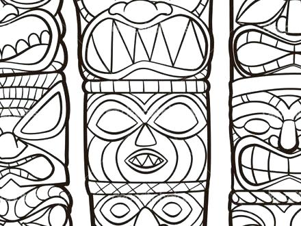 440x330 Tiki Coloring Pages Minimalist Coloring Pages Image Mask Masks
