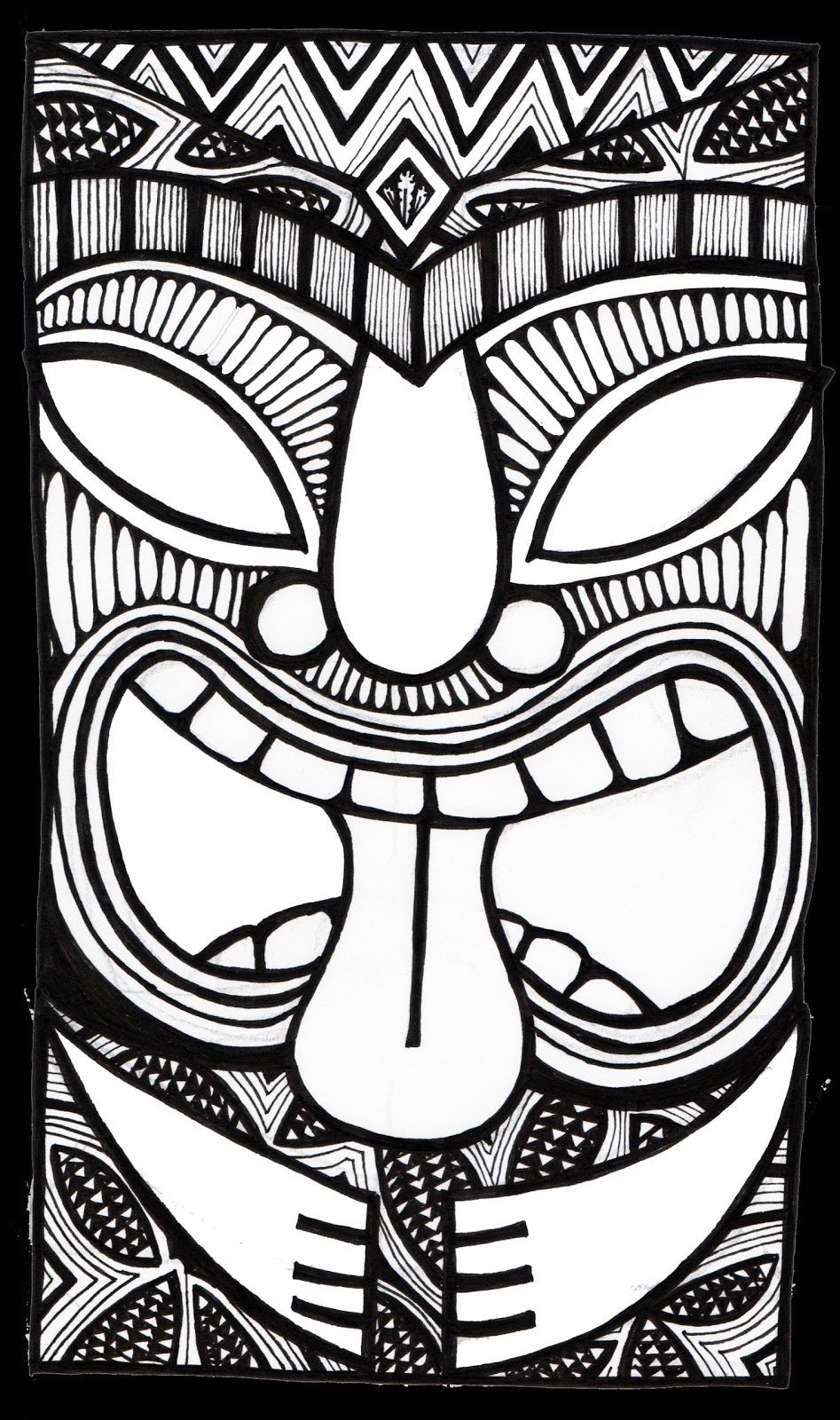 947x1600 Tiki Coloring Pages Paginone Biz In Ideas