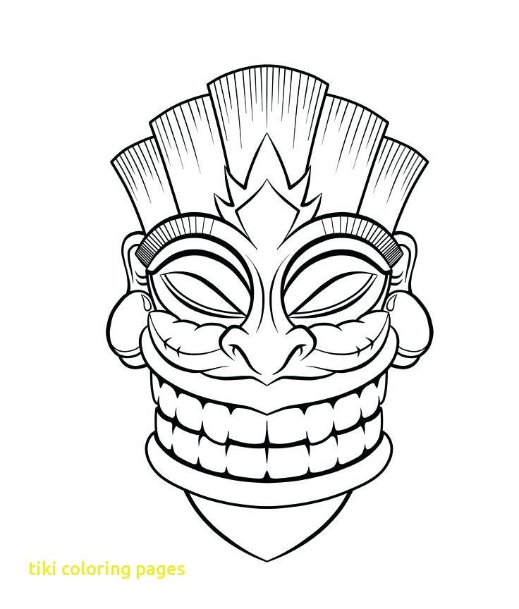 736x864 Tiki Coloring Pages With Free Hawaiian Tiki Coloring Pages