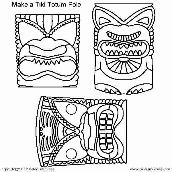 Tiki Coloring Pages At Getdrawings Free For Personal
