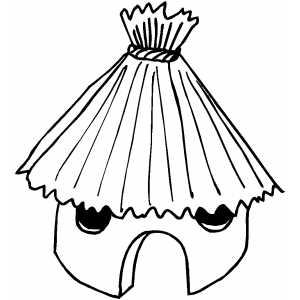 300x300 Nipa Hut Coloring Pages