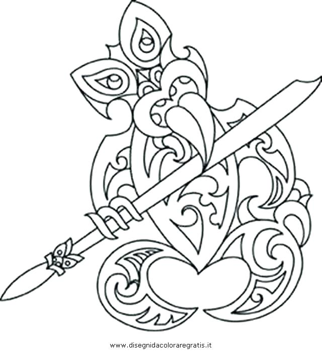 640x700 Pix For Mask Coloring Pages Tiki Faces Coloring Pages