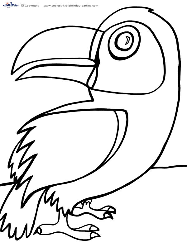 600x777 Printable Luau Coloring Page