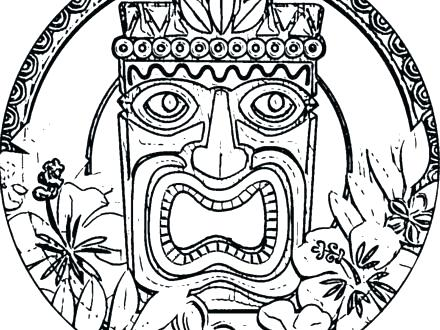 440x330 Tiki Coloring Pages Minimalist Coloring Pages Image Tiki Mask
